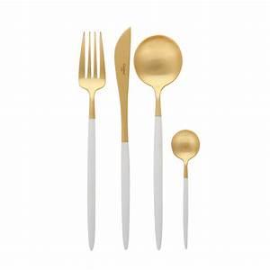 Besteck Gold Ikea : cutipol goa besteck set 24 st ck mattes wei gold kaufen amara ~ Sanjose-hotels-ca.com Haus und Dekorationen