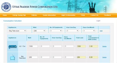 how to calculate electricity consumption uttar pradesh