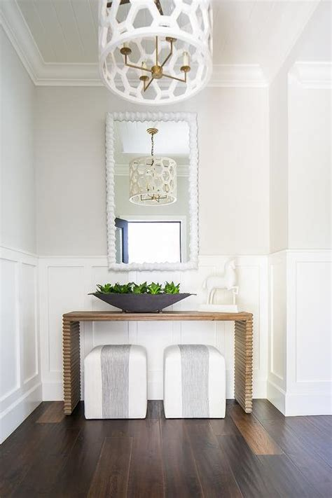 white hexagon drum pendant light transitional entrance