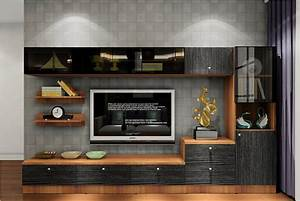 Gray TV wall and custom TV cabinet Download 3D House
