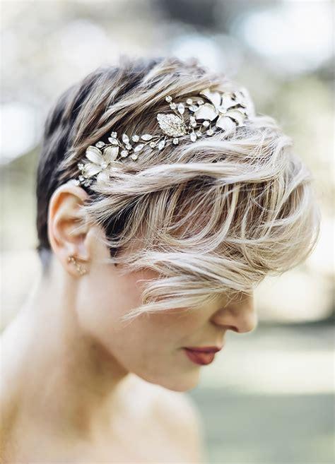 wedding hairstyles  short hair chwv