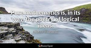 Pure mathematic... Maths Logic Quotes