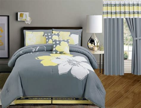 Touch Of Yellow Floral Bedding Sets, Comforter Set, Duvet