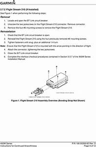 Garmin Part 23 Aml Stc Sa01933la D Instruction Manual 190