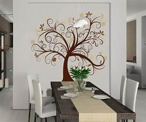 Dekoration Für Wohnzimmer : wandtattoo 3 farbig baumranke wohnzimmer dekoration baum ranke115cm x 95cm ebay ~ Sanjose-hotels-ca.com Haus und Dekorationen