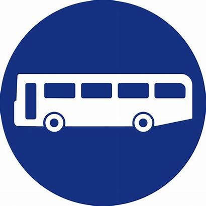 Sign Signs Road Compulsory Buses Mandatory Route