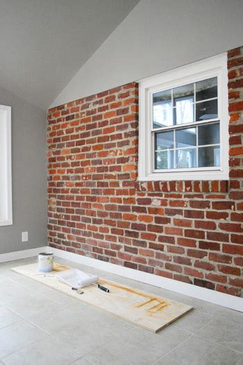 best colors for painting outdoor brick walls how to paint a brick wall and unify a choppy room young house love