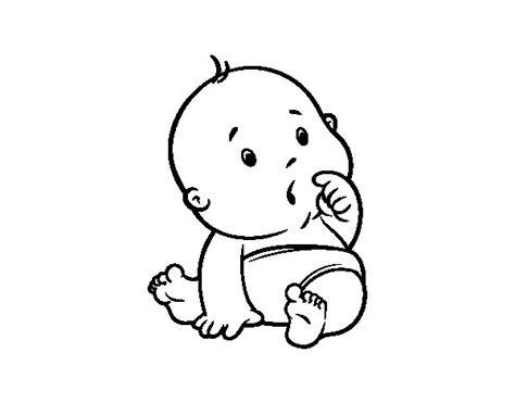 disegni bebe da stare disegno di bambino sorpreso da colorare acolore