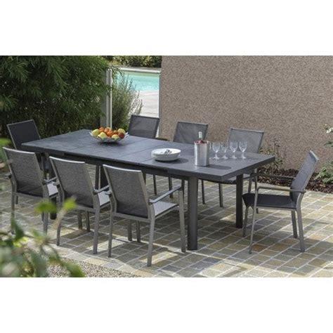 table de jardin 8 personnes table de jardin bora rectangulaire gris 8 personnes