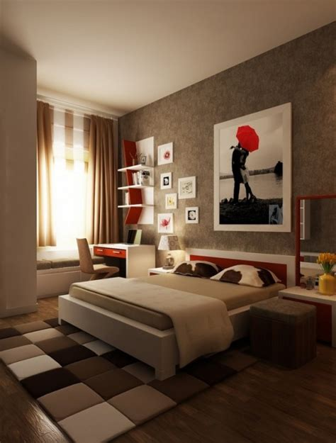 red accents  bedrooms  stylish ideas digsdigs