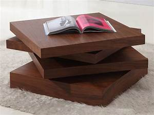 kyra rotating 3 tier walnut coffee table With types of coffee tables