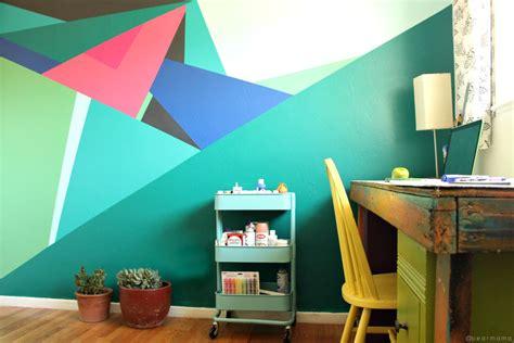 geometric wall design paint this geometric wall design pearmama