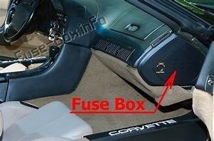 1989 Corvette Fuse Box Location Diagram