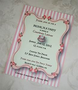 Tea Party Bridal Shower Invitations Wording - A Great Guide