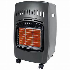 Propane Compact Infrared Heater Wheels Portable Outdoor ...