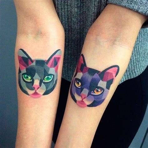 tatouage chat en couleurs tatouage chat les