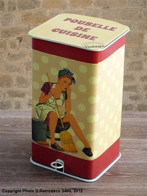 horloge murale cuisine poubelle de cuisine décoration vintage antic line seb11813