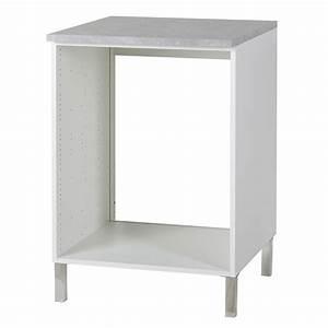 Meuble Cuisine Four : meuble bas four glossy blanc ~ Teatrodelosmanantiales.com Idées de Décoration