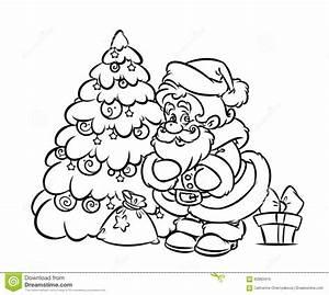 Santa Claus Christmas Tree Coloring Pages