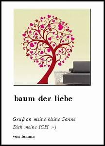Baum Der Liebe : gedichte baum der liebe gru an meine kleine sonne dich meine ich von luanna ~ Eleganceandgraceweddings.com Haus und Dekorationen