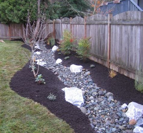 Garden Solutions by Drainage Trench Becomes A Backyard Ideas Yard