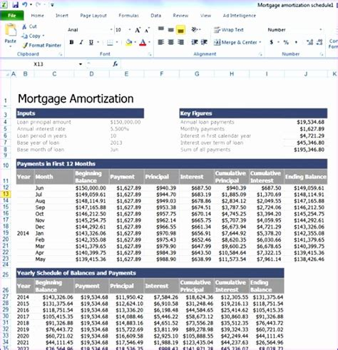 excel loan amortization template excel templates