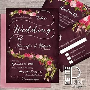 floral wedding invitation template printable wedding With wedding invitations templates maroon