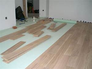 parquet flottant With comment poser un parquet stratifié clipsable