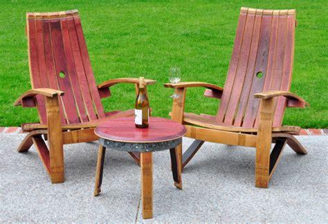 summer must handmade wine barrel adirondack chairs