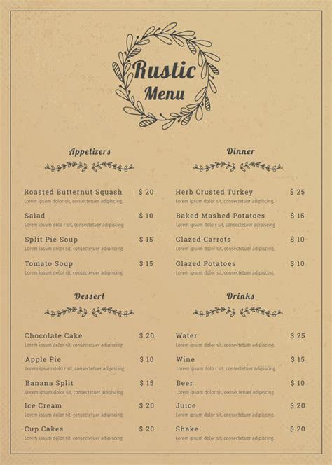 restaurant menu template   psd ai vector eps