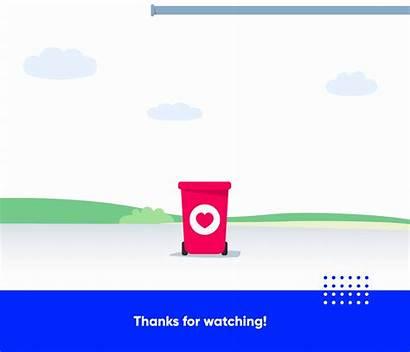 Behance Sorting Informative Recycle Waste Landing