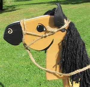 Wooden Stick Horse Head Pattern