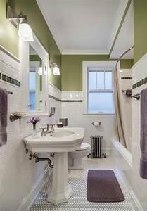 couleur salle de bains idees sur le carrelage et la peinture With kitchen colors with white cabinets with papiers peints salle de bains