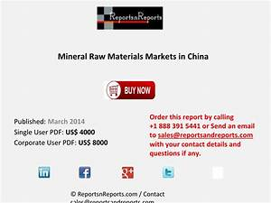 Mineral Raw Materials Market Anticipated to Grow in China ...