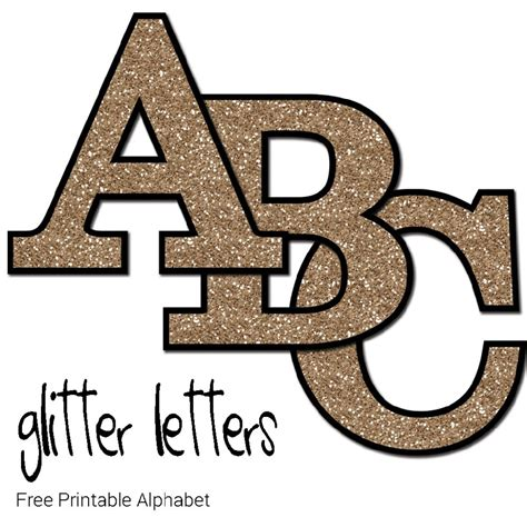 Print Letters Free by Free Printable Glitter Letters Make Breaks
