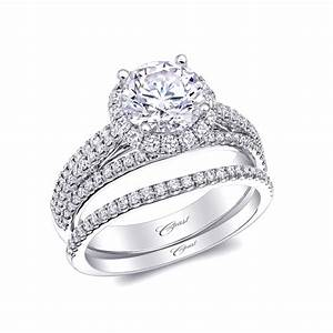 coast diamond wedding ring set of the week round halo With halo rings with wedding band
