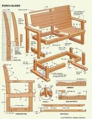glider bench plans images woodworking