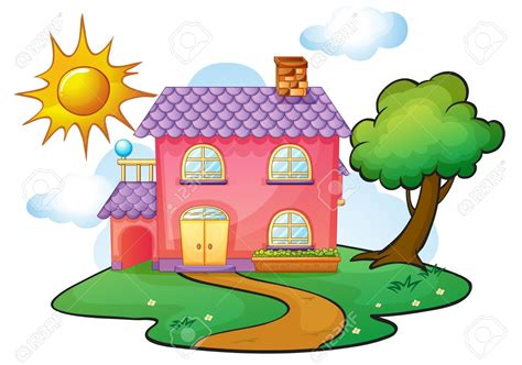 Cottage Clipart Outside House