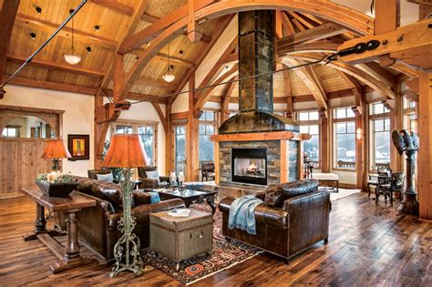 open house plans with large kitchens timber frame design ideas archives timber home living