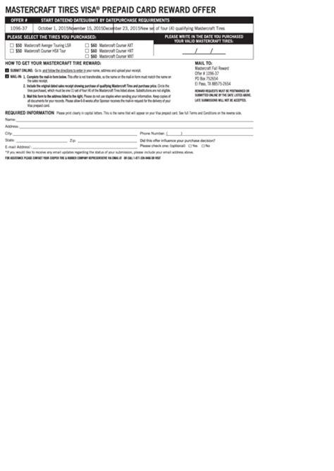 top  cooper tire rebate form templates