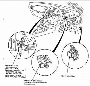 1993 Honda Civic Starter Relay Location