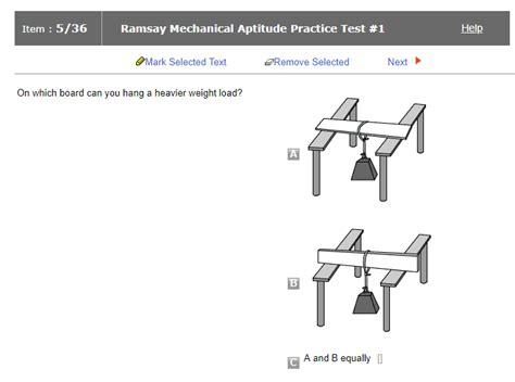 ramsay mechanical aptitude test jobtestprep