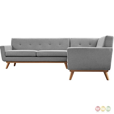 modern l shaped sofa engage contemporary l shaped sectional sofa with button