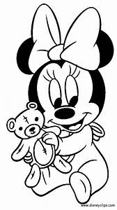 Baby Minnie Mouse Coloring Pages Getcoloringpagescom