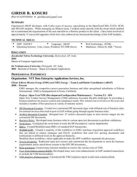 Gaming Machine Attendant Resume by 100 Sap Fico Sle Resume 3 Years Experience Fresh Accounting Graduate Cover Letter Benefits