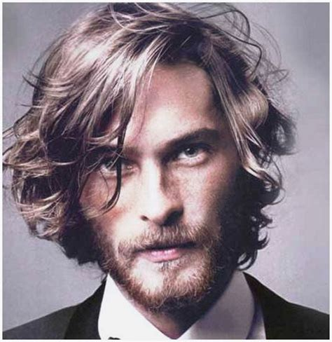 mens medium length thick wavy hairstyles more picture mens