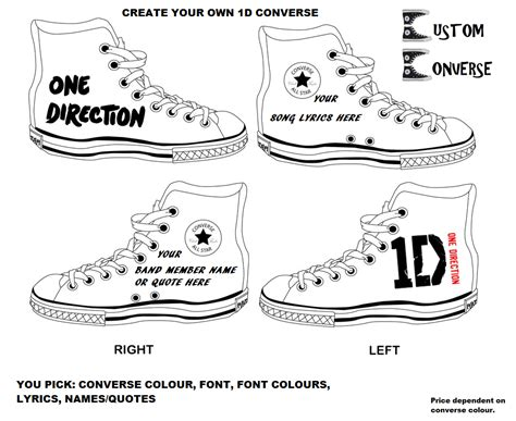 converse design your own create your own one direction converse all