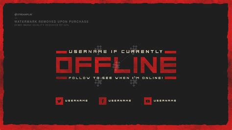 Twitch Offline Banner Template Size by 900x480 Twitch Banners Maker For You To Free Download