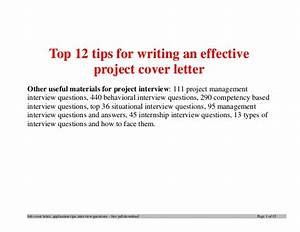 tips for writing a cover letter for a job application With tips for writing cover letters effectively