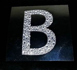 bling large silver glitter clear rhinestone letter With large silver letter stickers